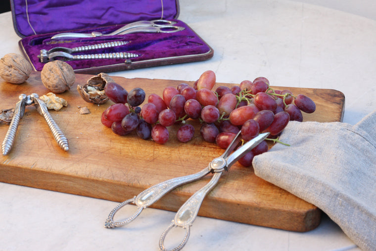 Antique Silver Grape Scissors and Nutcrackers