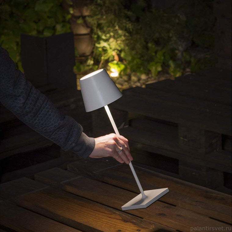 POLDINA Portable Lamp White