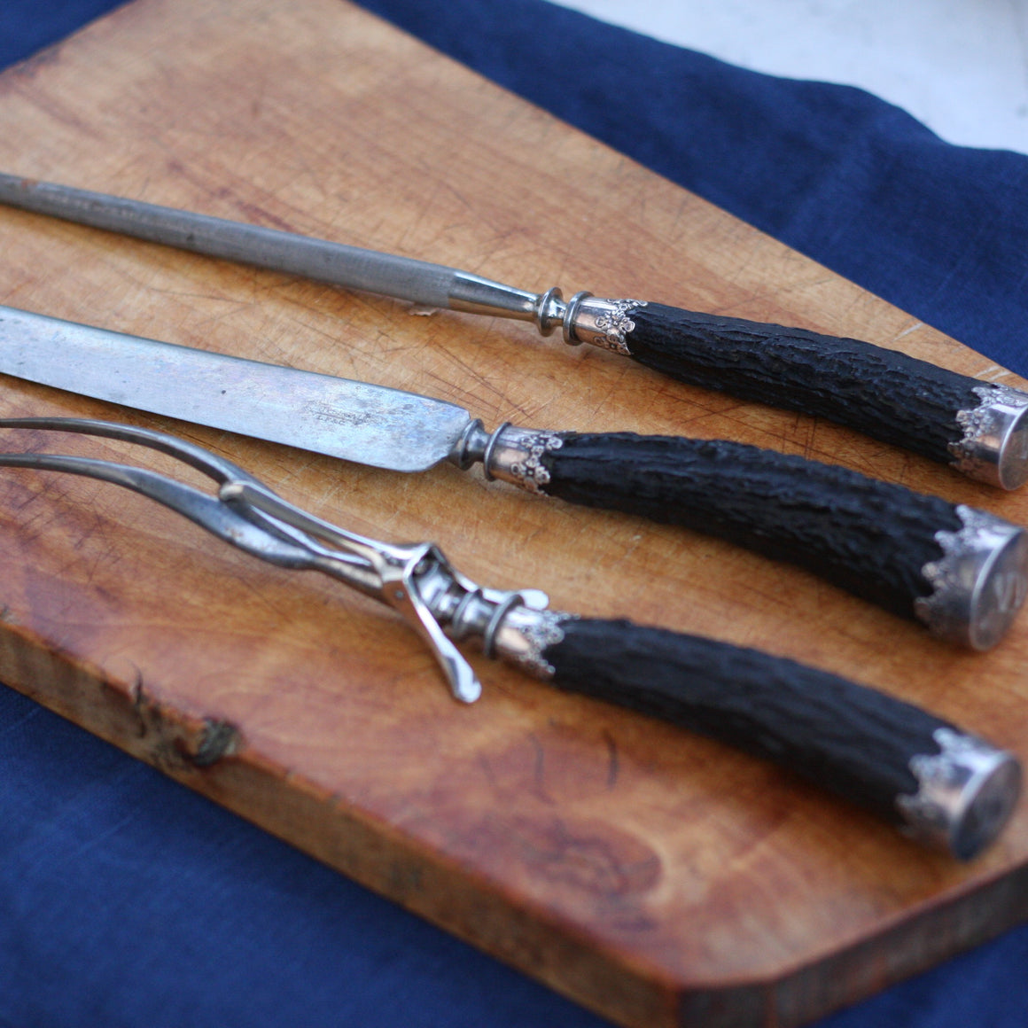 Antique Carving Set - 3 Pieces