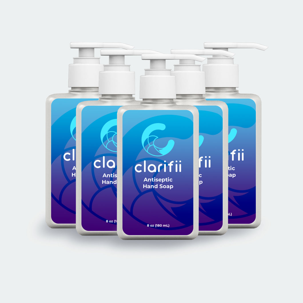 Clarifii Antiseptic Hand Soap 5-Pack | 8oz