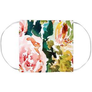 Peach Roses Painting- Face Mask Covers