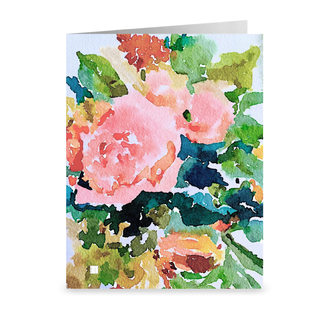 Peach Roses Note Cards (Set of 10)