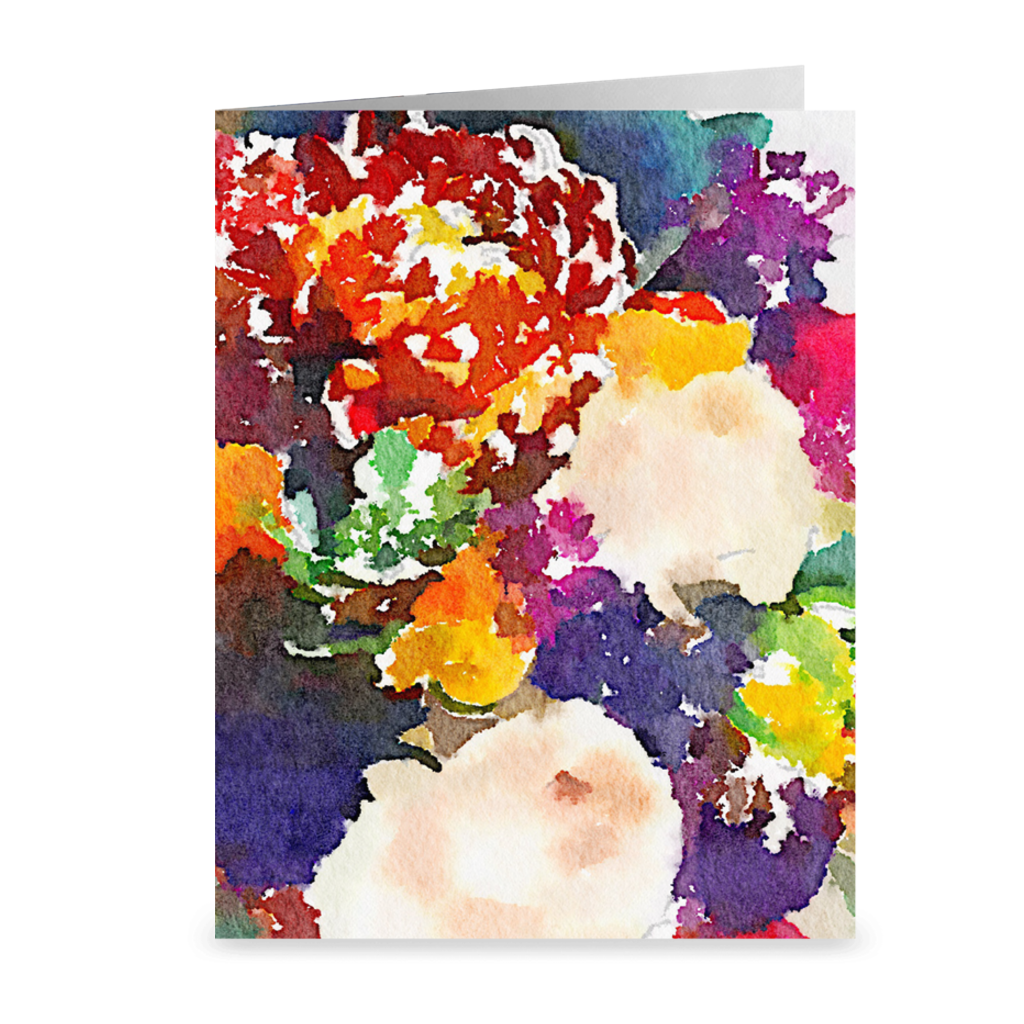 CIRCUS FLOWERS Note Cards (Set of 10)