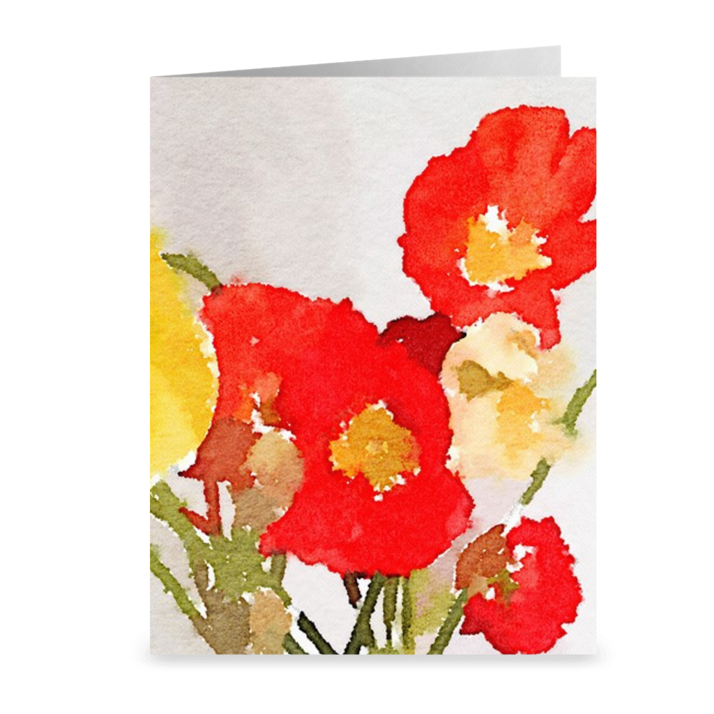 POPPIES Note Cards