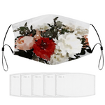 Floral Face Masks Dust Mask with Filter Element, Multiple Spare Filter Cartridges