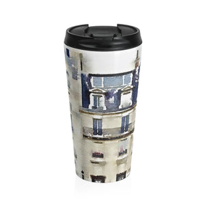 Paris Stainless Steel Travel Mug - tea coffee Europe Travel memory drinks teen
