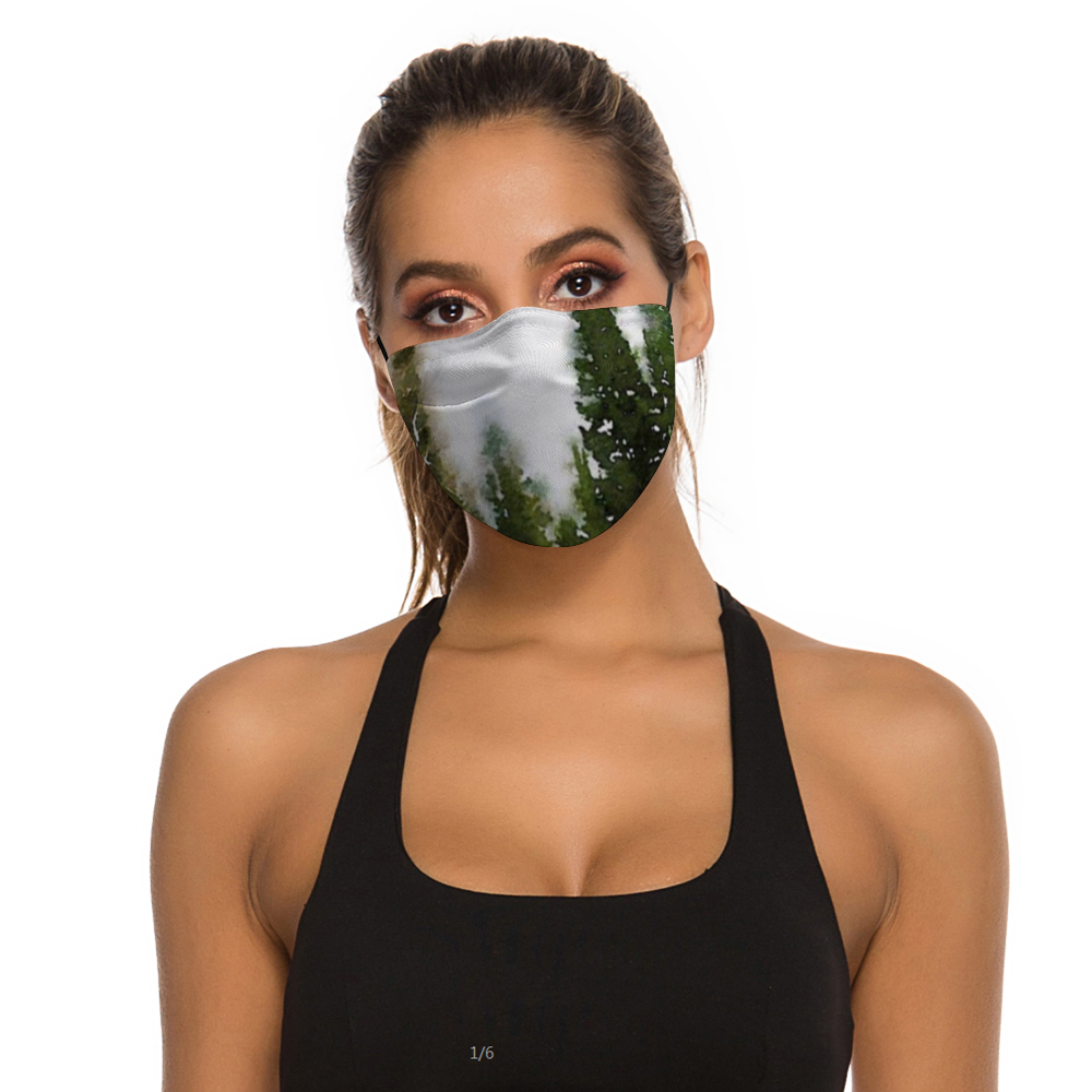 Pine Tree Art Face Masks Dust Mask with Filter Element, Multiple Spare Filter Cartridges