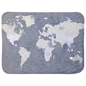 World Map Painting- Baby Blanket