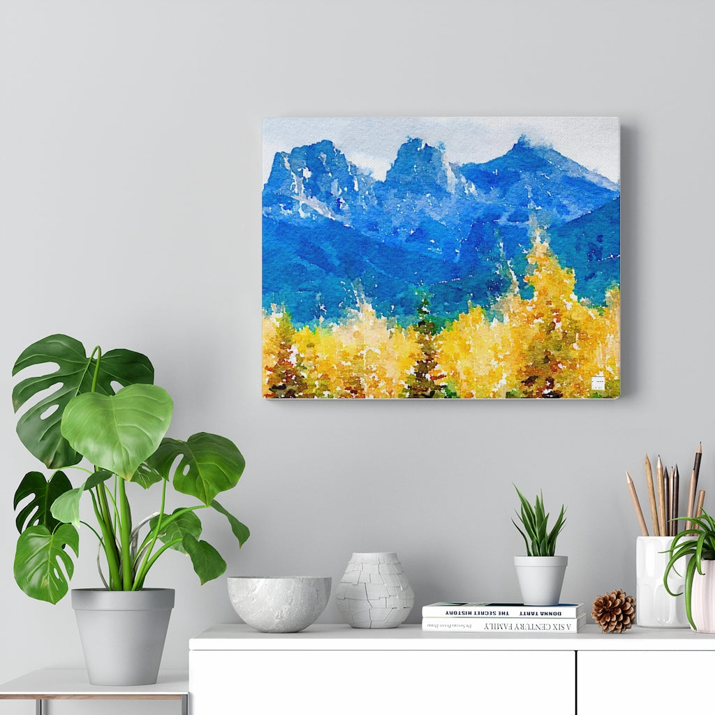 Three Sisters Mountains Canvas Gallery Wrap