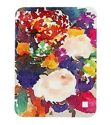 L Rempel Art - Artist Baby Blanket | Functional Original Watercolor Art for Your Baby, Toddler, or Young Child - CIRCUS FLOWERS