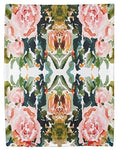 PEACH ROSES Tea Towel