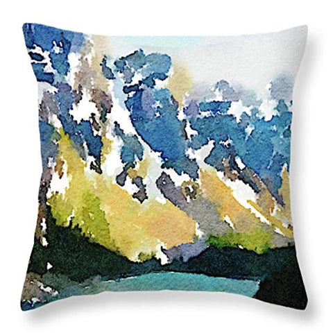L Rempel Art - Velvet Pillow Covers | Functional Watercolor Art for Your Home - TEN PEAKS