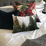 L Rempel Art - Velvet Pillow Covers | Functional Watercolor Art for Your Home - CANADIAN PINE