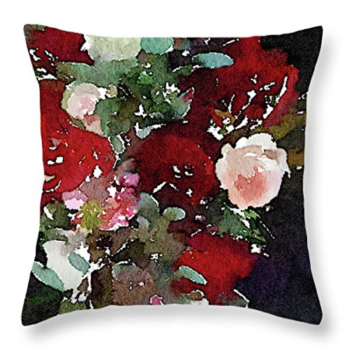 L Rempel Art - Velvet Pillow Covers | Functional Watercolor Art for Your Home - FOXGLOVE