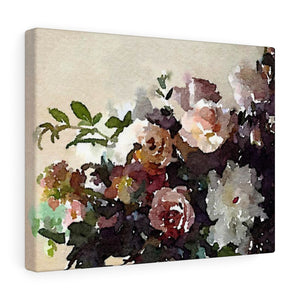 Marys Table Floral - Canvas Gallery Wrap