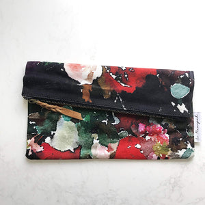 Foxglove Large Zippered Pouch