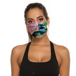 Peach Roses Face Masks Dust Mask with Filter Element, Multiple Spare Filter Cartridges