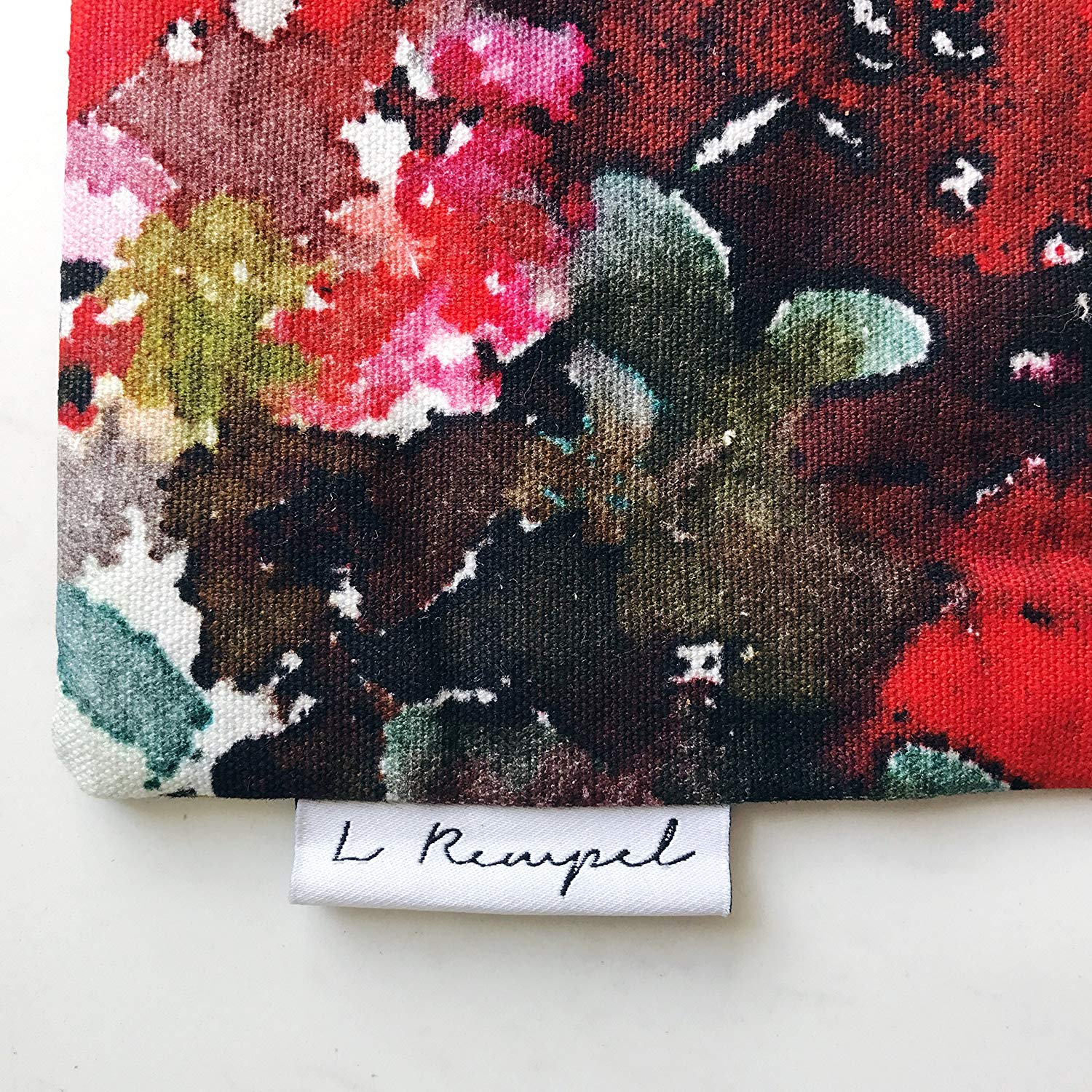 L Rempel Art Foxglove Large Zippered Pouch - Clutch Bag & Multi Use Pouch | Functional Watercolor Art