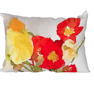 "Poppies Pillow - 14"" x 20"""