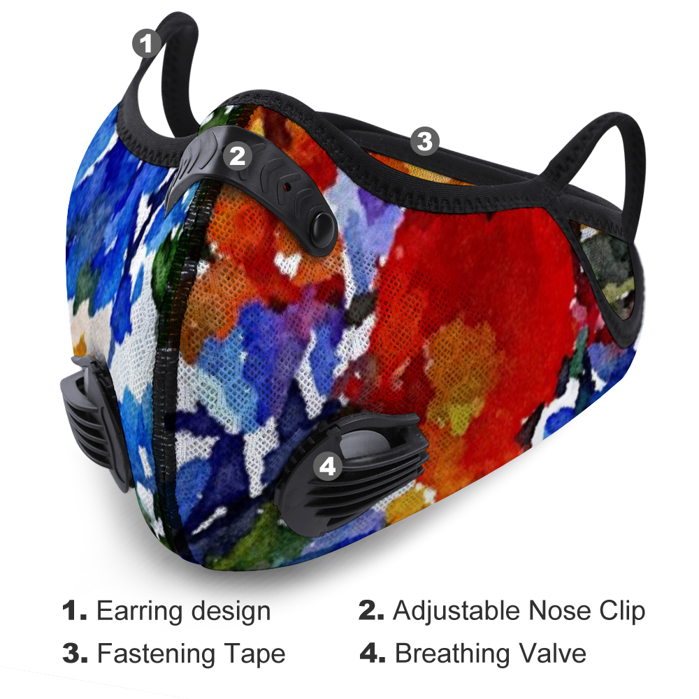 Floral HOTLANTA Face Mask - Mesh & Activated Carbon FILTER
