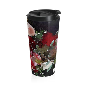 Floral Foxglove red roses Stainless Steel Travel Mug