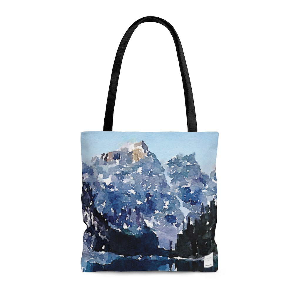 Cool Waters Mountain Tote Bag