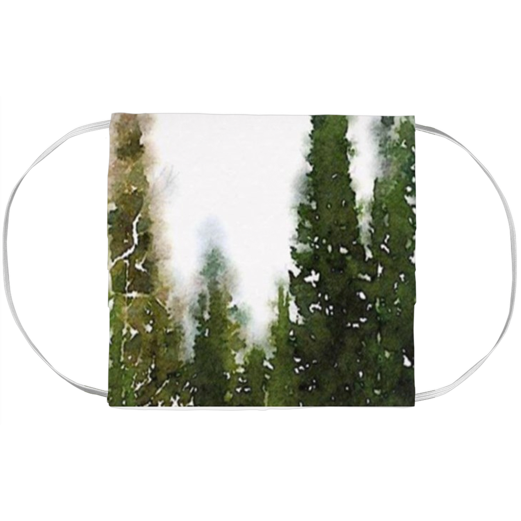 Pine Trees Painting- Face Mask Covers