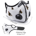 Cutest Little Bumble Bee Face Mask Covers - Mesh & Activated Carbon FILTER