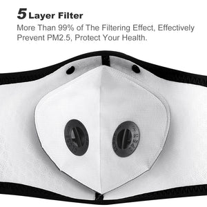 Porcelain Face Mask - Mesh & Activated Carbon with FILTER