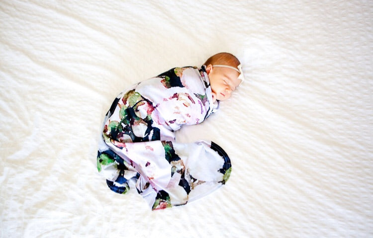 *New Peony Love Swaddle Blanket