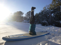 Winter SUP Headstand