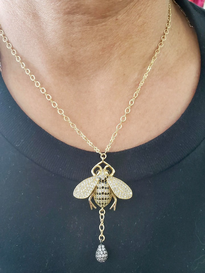 Jeweled Bumblebee Necklace