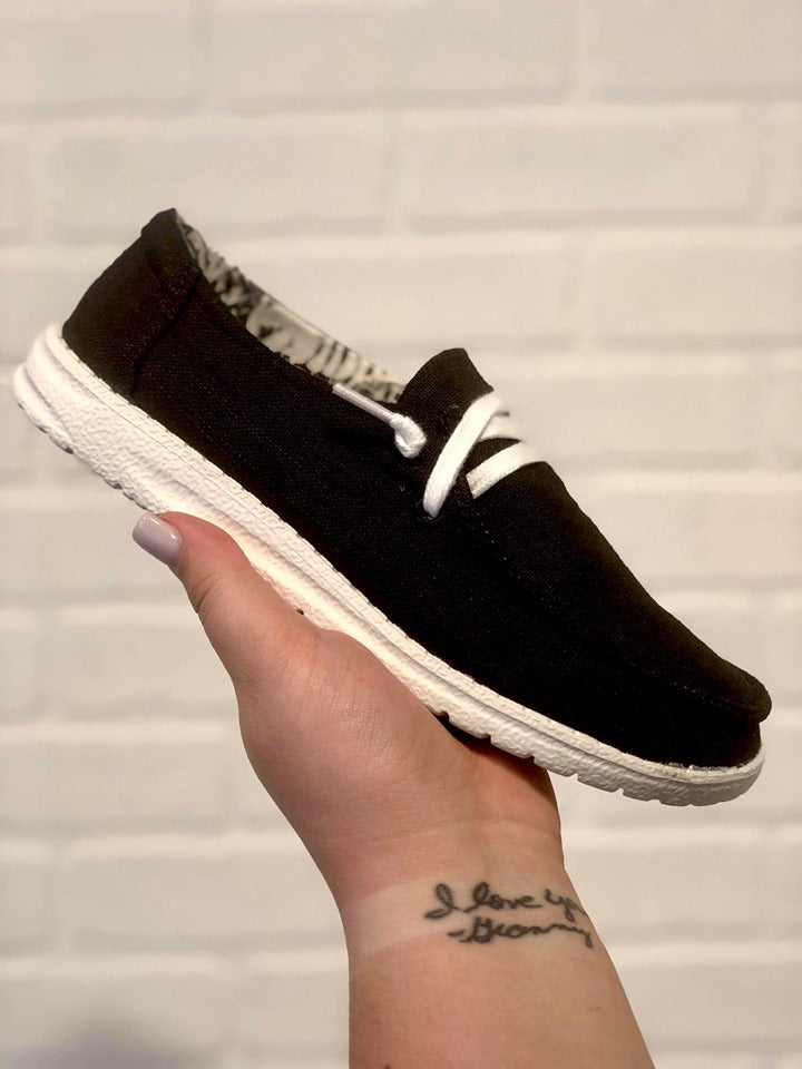 Black Slip On Loafer Style Very G Sneakers