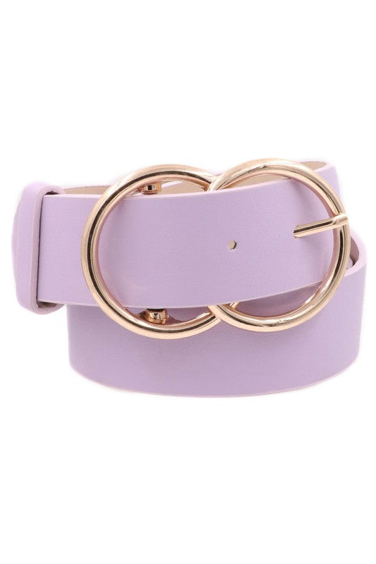 Faux Leather CC Buckle Belt
