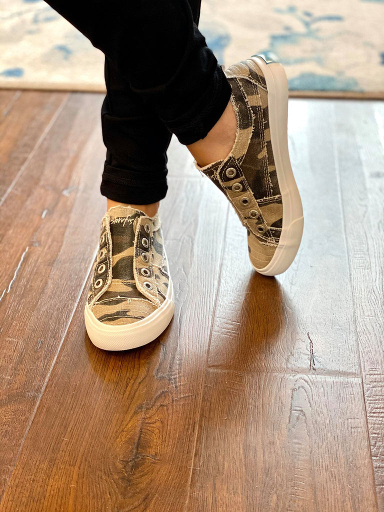 Blowfish Camo Hipster Slip On Comfort Shoes