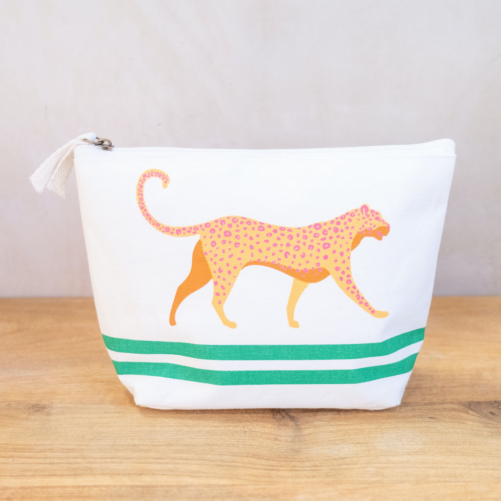 Malawi Shore White Cosmetic Bag