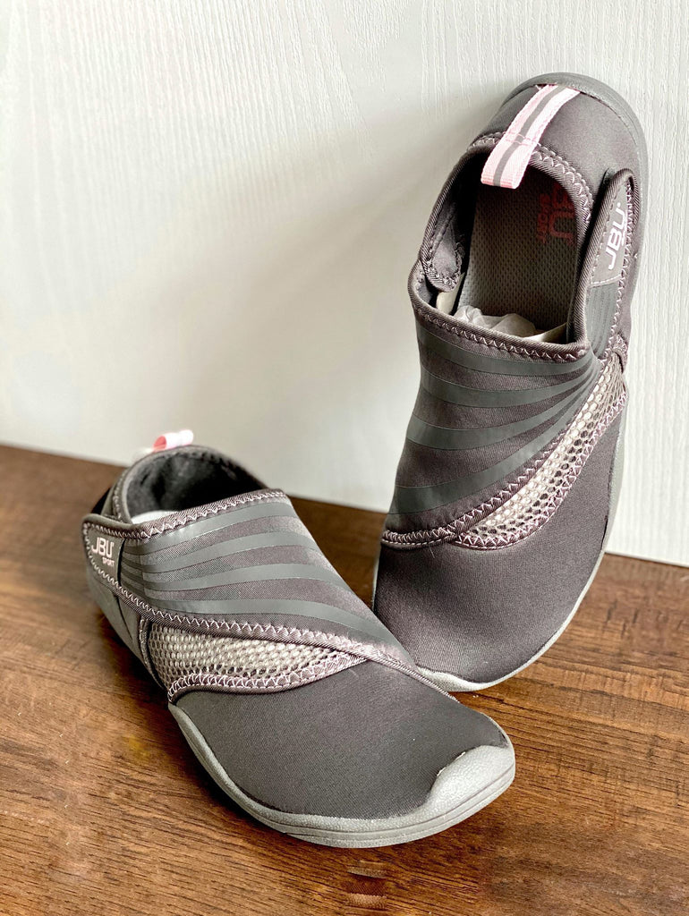 Jambu Grey Mesh Slip On Water Shoes