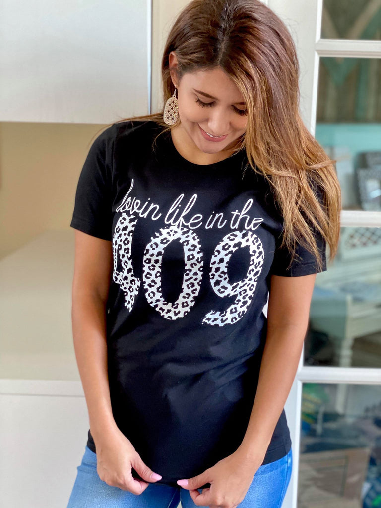 Lovin Life In The 409 Black Bella Canvas T-Shirt