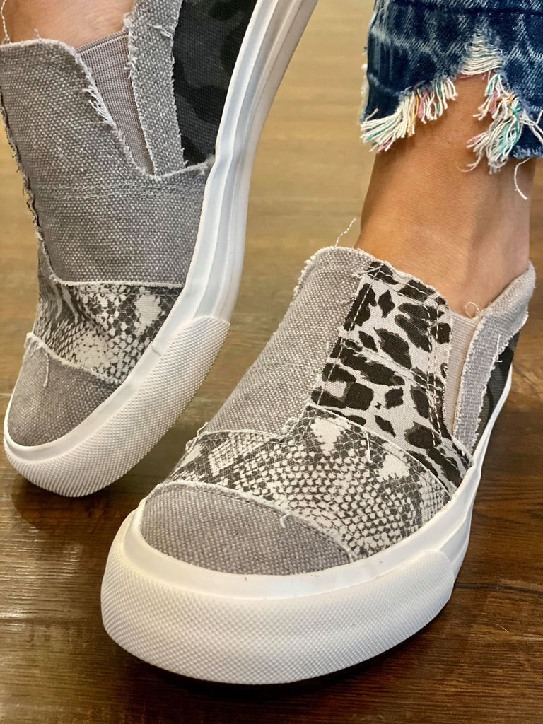 Blowfish Patchwork Canvas Slip-on Comfort Shoes