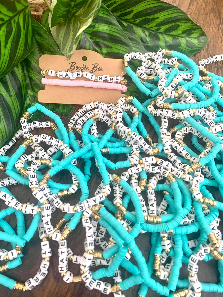 Bright Pottery Beaded Fun & Sassy Word Bracelet Sets by Boujie Bee