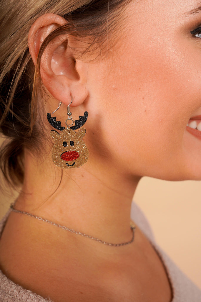 Rudolph The Red Nosed Reindeer Sparkle Earrings