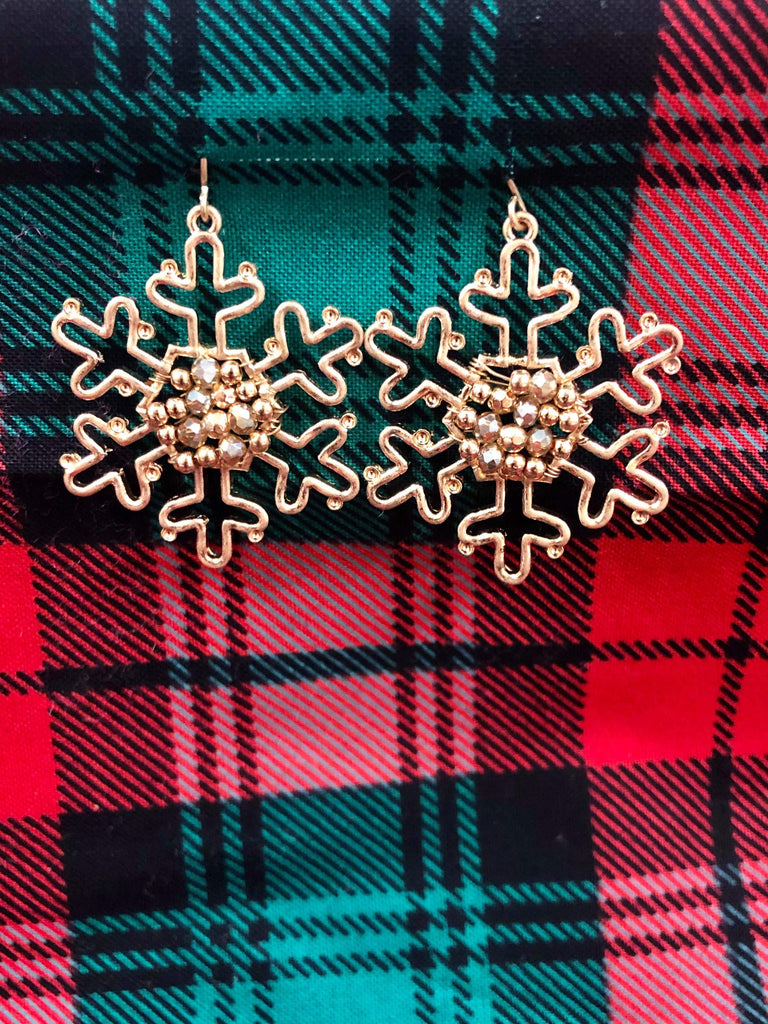 Decorative Snowflake Outline Earrings