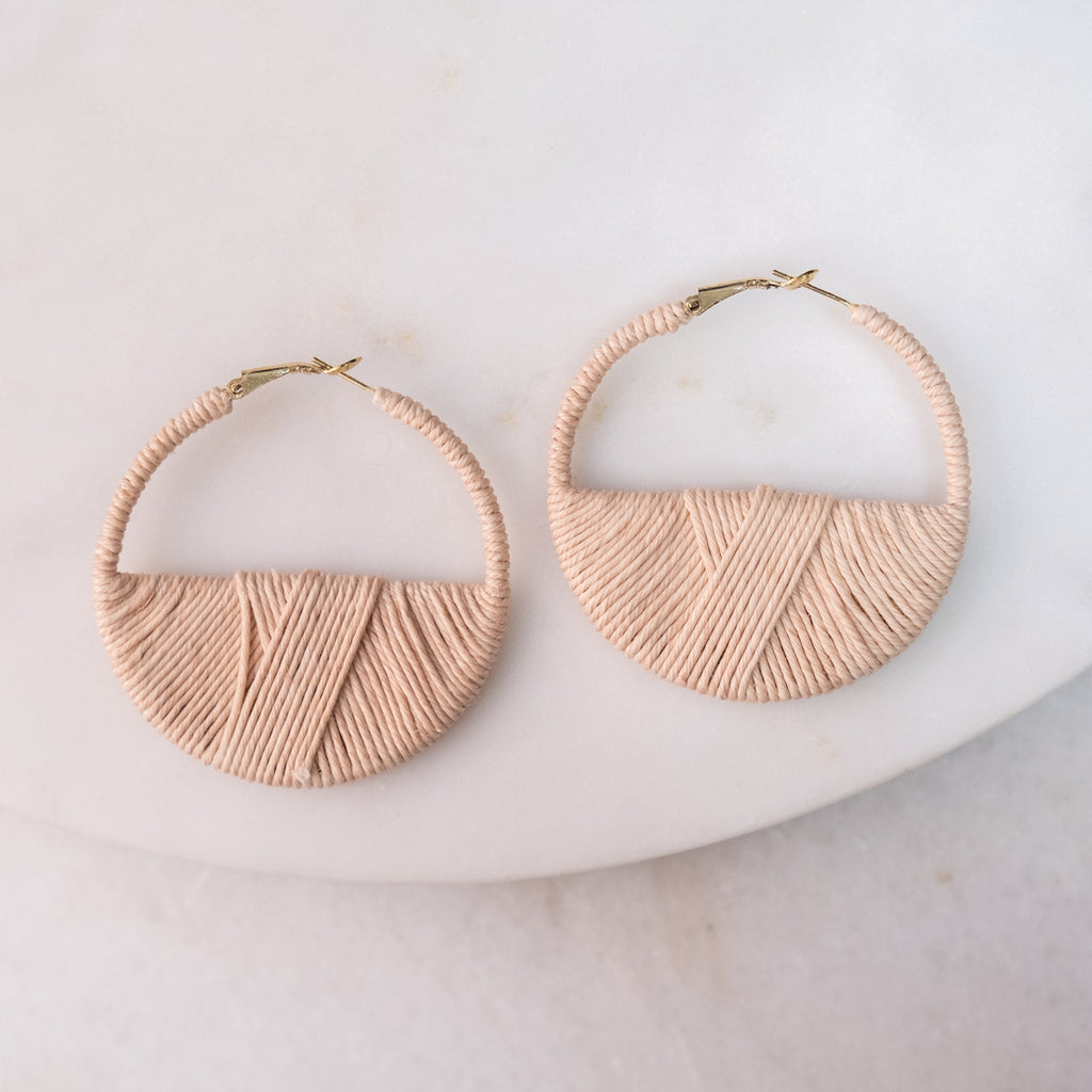 Blush Island Rope Hoop Earrings