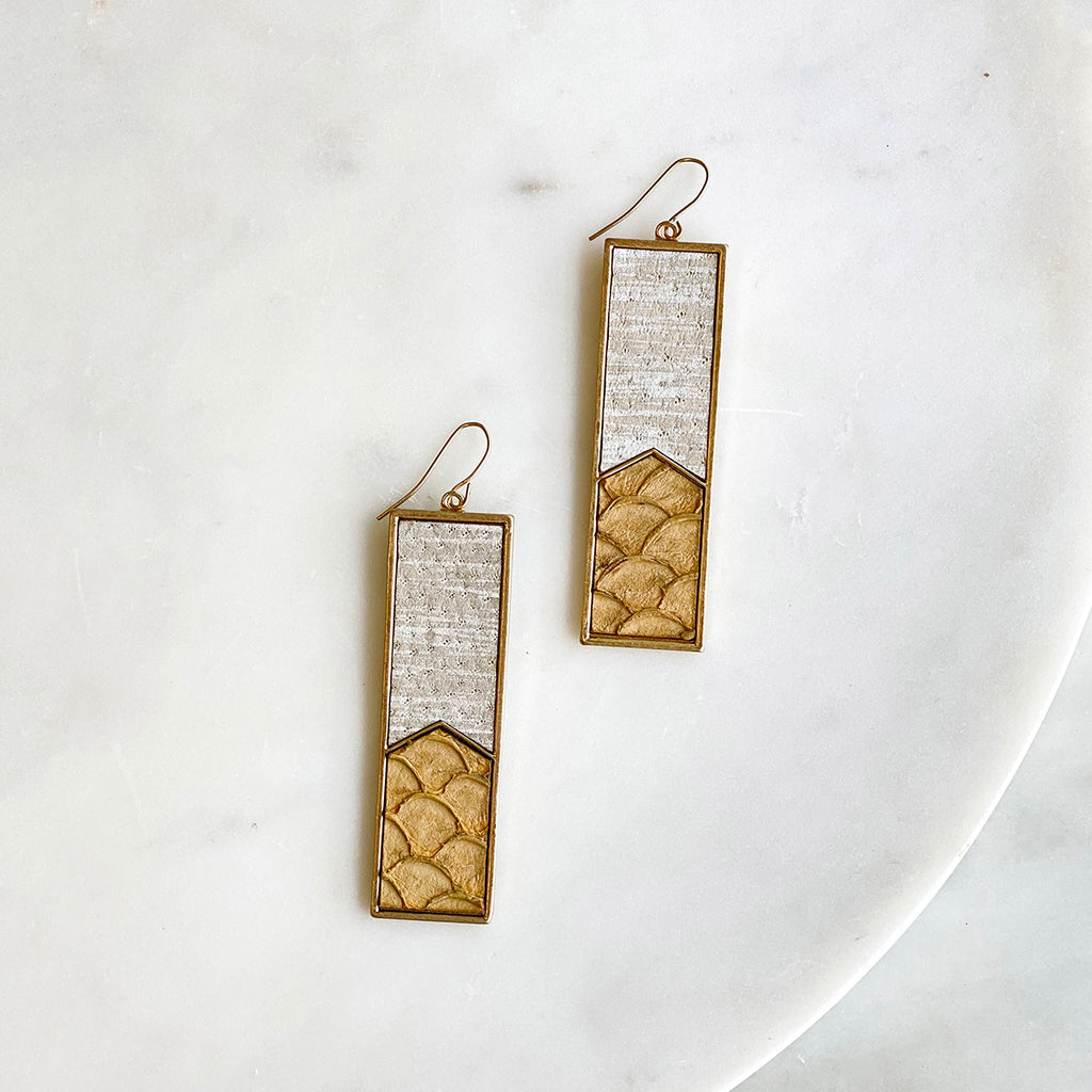 Ash Tab Rectangle Earrings