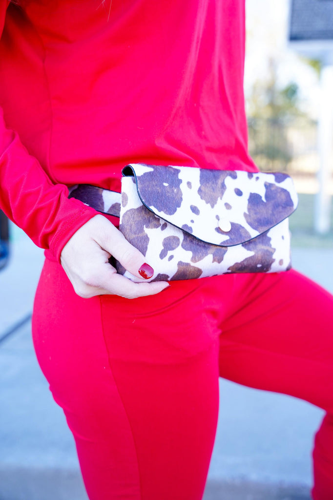 Cow Print Adjustable Cross Body & Fanny Pack