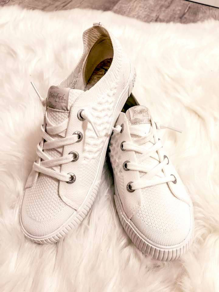 Blowfish All White Mazaki Sneaker Shoes