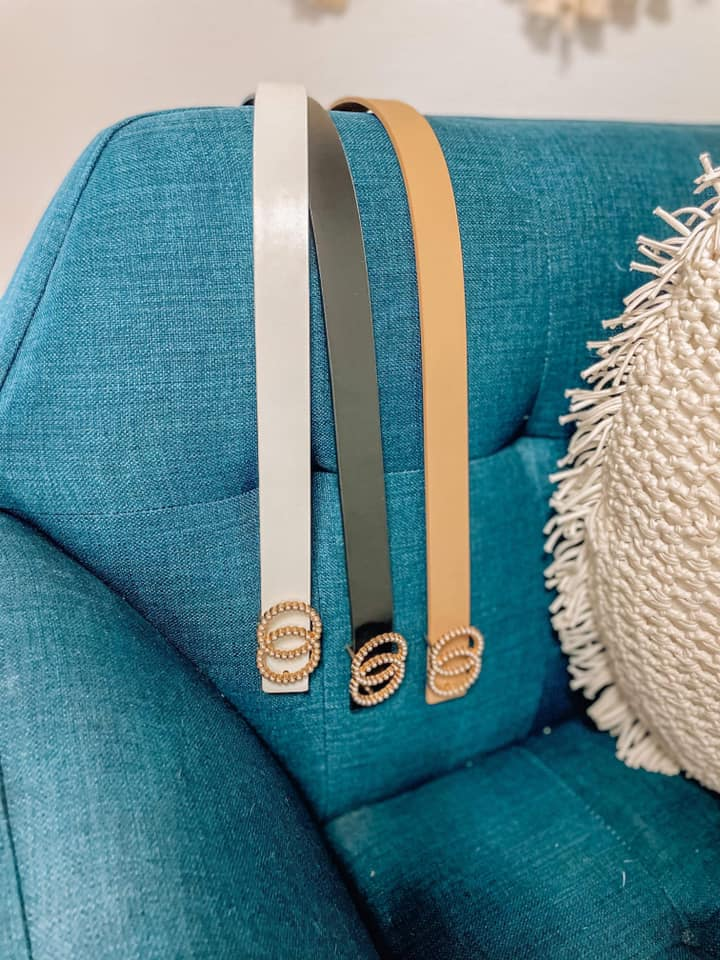 Thin Pearly Double O Fashion Belts