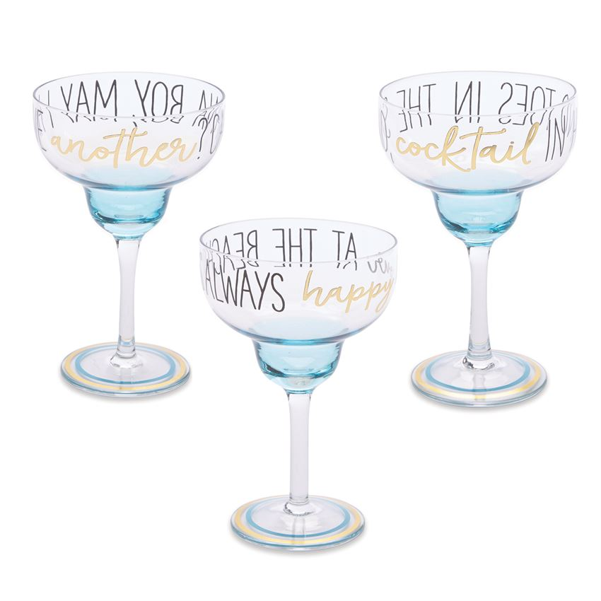 BEACH MARGARITA GLASSES, glasses - Sweet Bee Boutique