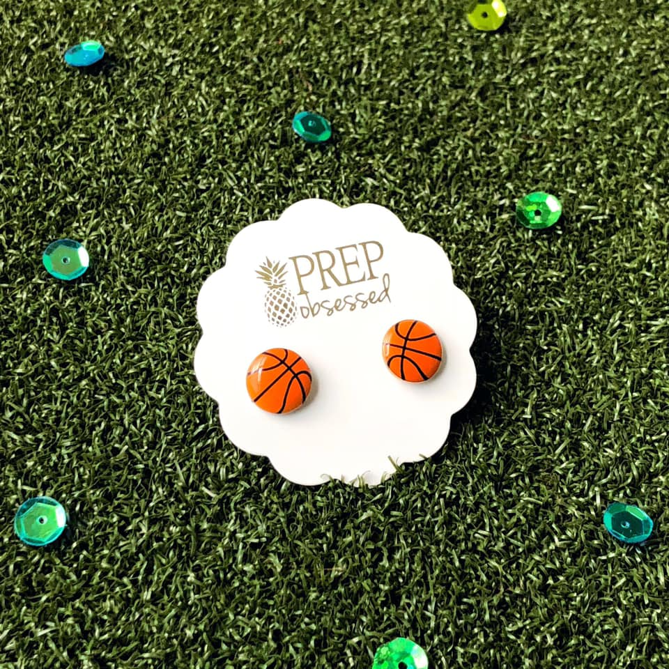 Prep Obsessed Sports Baseball or Basketball Studs, All Earrings - Sweet Bee Boutique