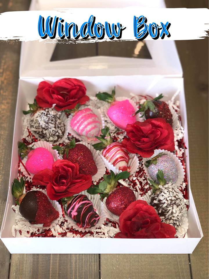 One Dozen Chocolate Covered Strawberries, Baked Goods - Sweet Bee Boutique